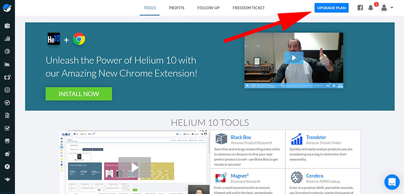 helium10 new account